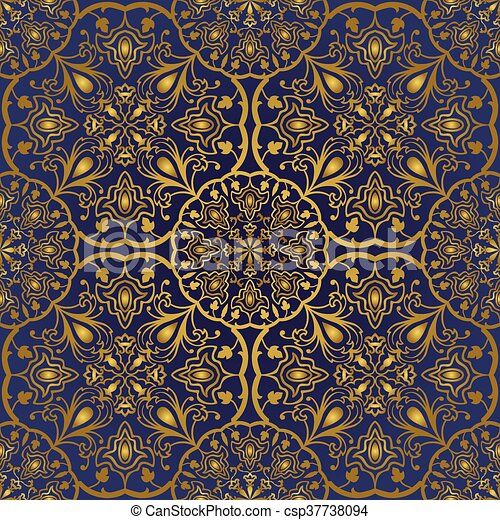 blaues orientalische pattern gold teppich dekorativ textile schablone stlich muster. Black Bedroom Furniture Sets. Home Design Ideas