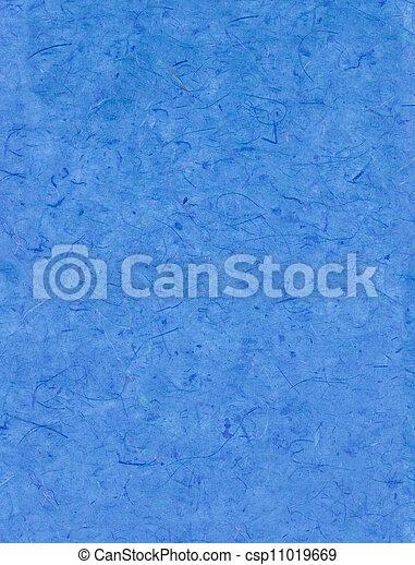 Blaues papier.