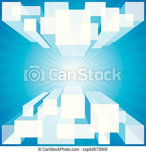 Blauer Hintergrund - csp54573005