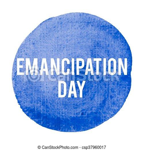blaues, plakat, karte, gemalt, text, abbildung, feiertag, geschrieben, vektor, logo, hintergrund, emanzipation, feier, wörter, tag, beschriftung - csp37960017