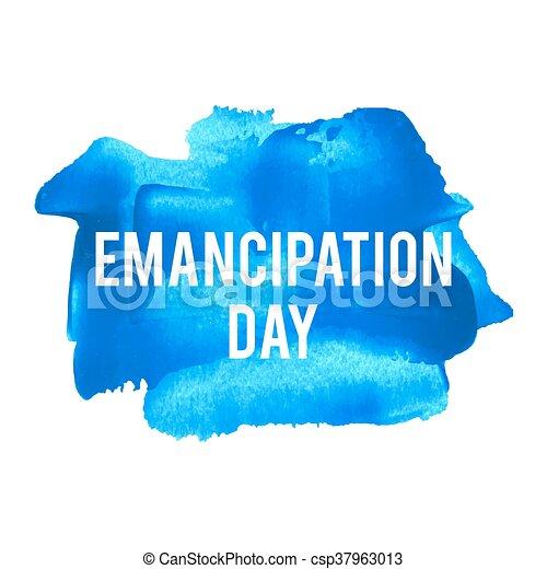 blaues, plakat, karte, gemalt, text, abbildung, feiertag, geschrieben, vektor, logo, hintergrund, emanzipation, feier, wörter, tag, beschriftung - csp37963013