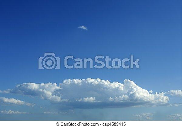 blaues, schöne , wolkenhimmel, himmelsgewölbe, sonnig, weißes, tag - csp4583415