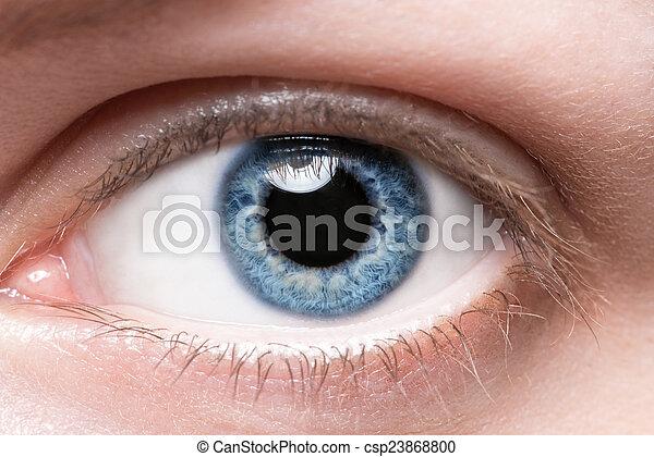 blaues, schließen, auge, auf - csp23868800