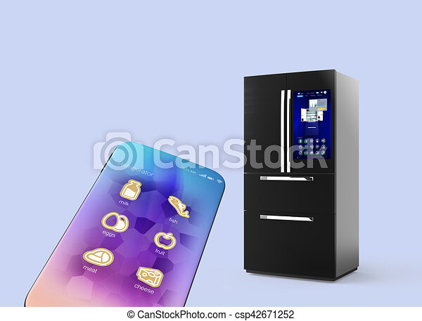 Kühlschrank Licht : Blaues smartphone licht freigestellt hintergrund kühlschrank