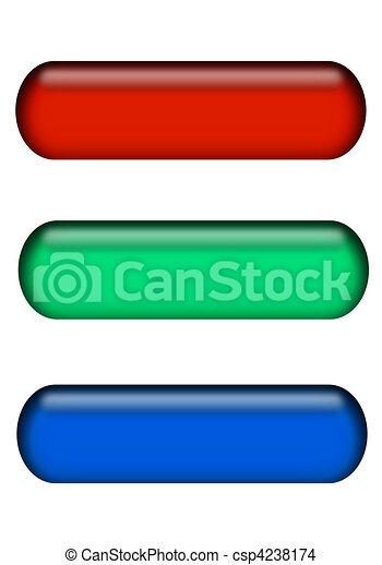 blaues, stäbe, grün, taste, rotes  - csp4238174