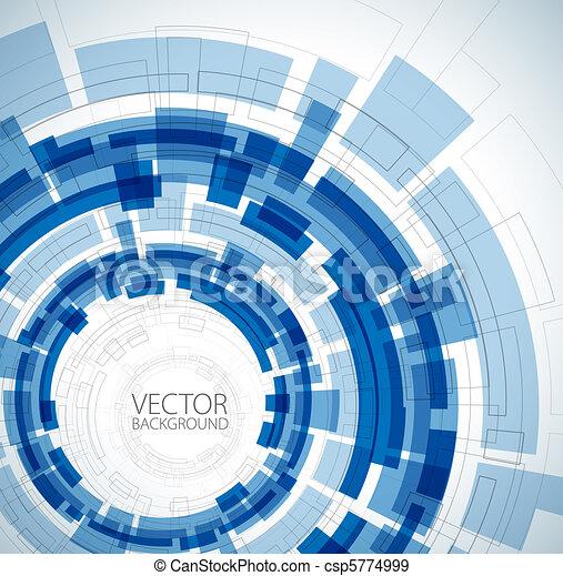 blaues, technisch, abstrakt, hintergrund - csp5774999