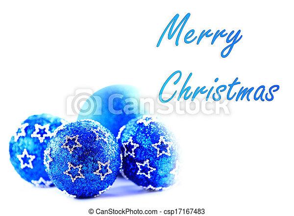 Blaues, text, probe, kugeln, weihnachten.
