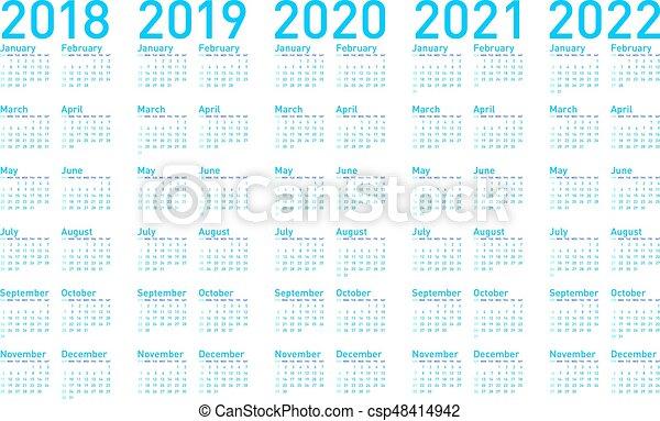 blaues vectors 2018 einfache jahre 2021 2020. Black Bedroom Furniture Sets. Home Design Ideas