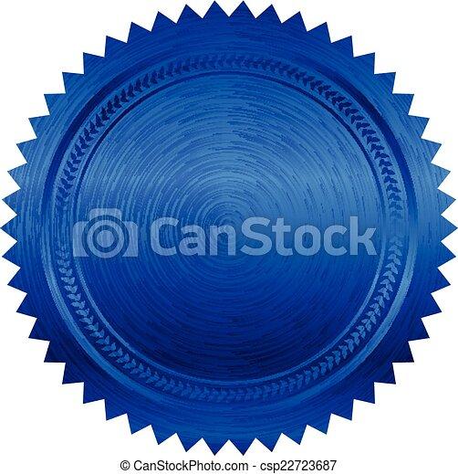blaues, vektor, abbildung, siegel - csp22723687