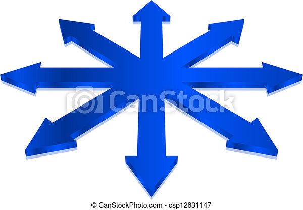 blaues, vektor, pfeile, abbildung - csp12831147