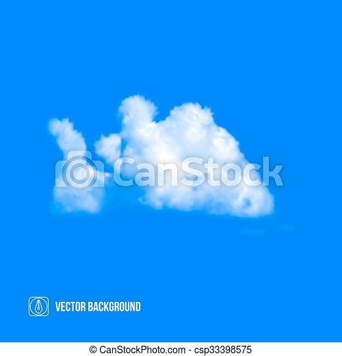 Wolken am blauen Himmel. Vector - csp33398575