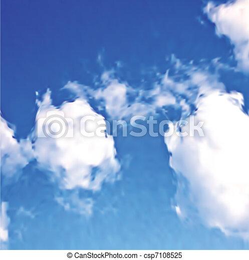 blaues, weißes, vektor, wolkenhimmel, sky. - csp7108525