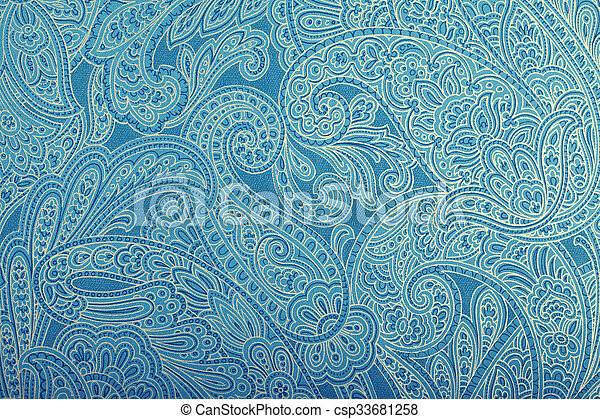 blaues weinlese paisley tapete muster blau toned. Black Bedroom Furniture Sets. Home Design Ideas