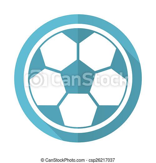 Blaues Wohnung Fussball Zeichen Fussball Ikone