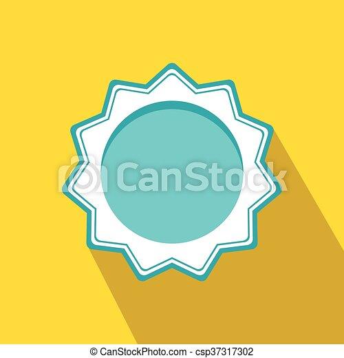 blaues, wohnung, stil, rosette, auszeichnung, leer, ikone - csp37317302