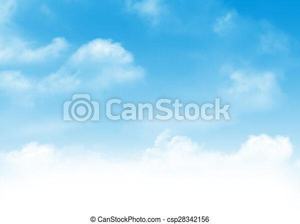 blaues, wolkenhimmel, himmelsgewölbe, hintergrund - csp28342156