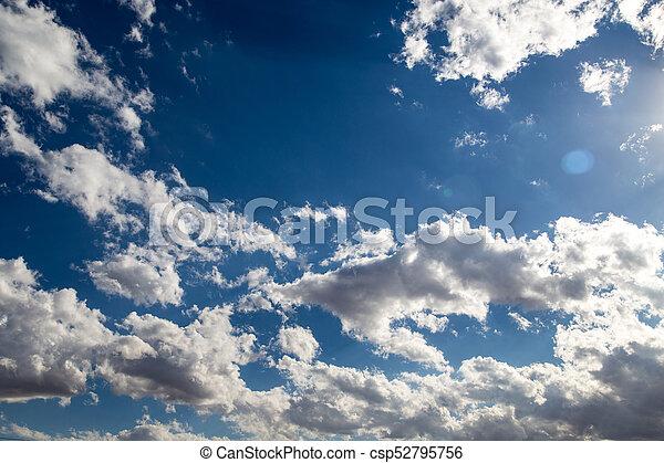blaues, wolkenhimmel, himmelsgewölbe - csp52795756