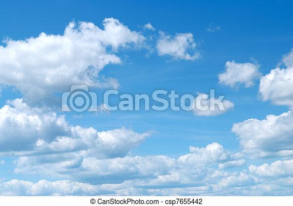 blaues, wolkenhimmel, himmelsgewölbe - csp7655442