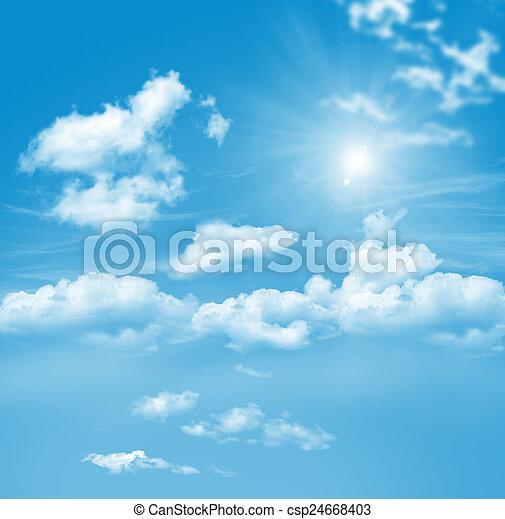 blaues, wolkenhimmel, himmelsgewölbe - csp24668403