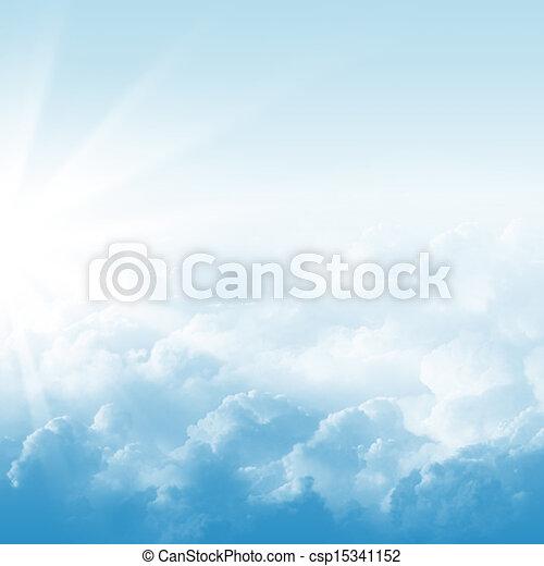 blaues, wolkenhimmel, himmelsgewölbe - csp15341152