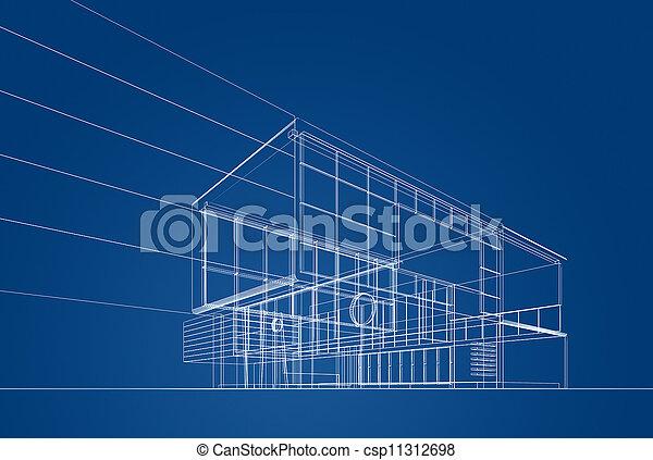 blaupause, architektur - csp11312698