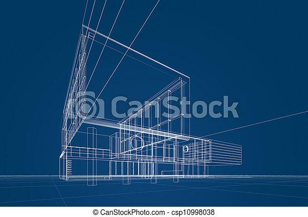 blaupause, architektur - csp10998038