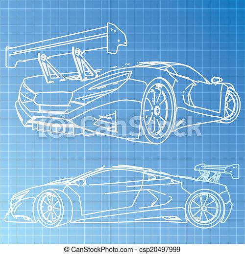 Atemberaubend Blaupause Von Autos Bilder - Elektrische ...