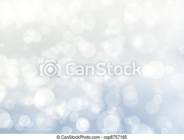 blauw licht, bokeh, abstract, achtergrond. - csp8757165