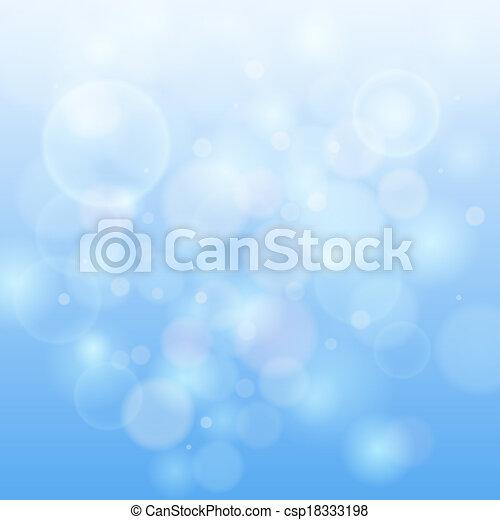 blauw licht, bokeh, abstract, achtergrond. - csp18333198
