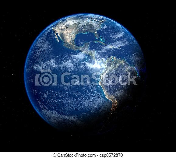 blauwe , aarde - csp0572870