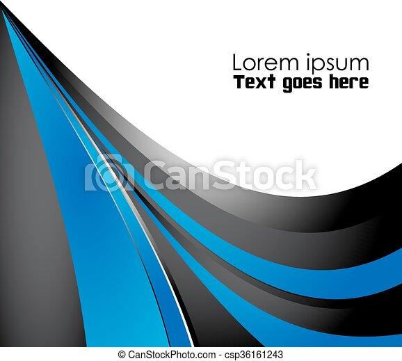 blauwe , abstract, achtergrond - csp36161243