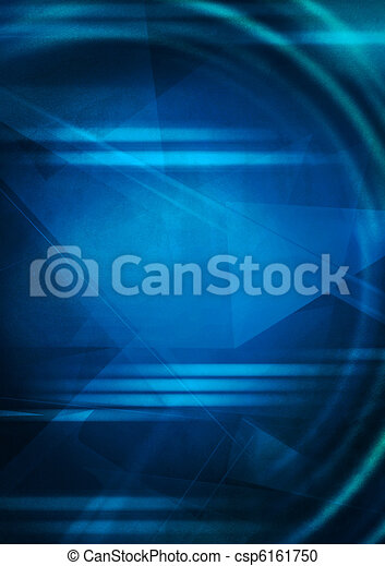 blauwe , abstract, achtergrond - csp6161750