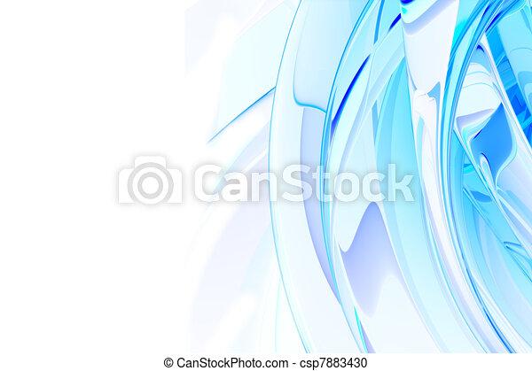 blauwe , abstract, achtergrond - csp7883430
