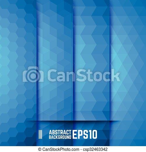 blauwe , abstract, set, achtergronden - csp32463342
