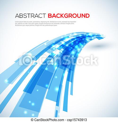 blauwe , abstract, verhuizing, achtergrond - csp15743913