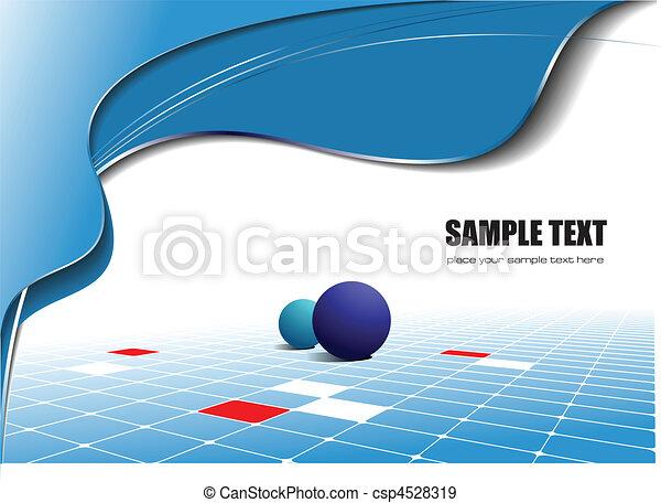 blauwe achtergrond, golf, abstract - csp4528319
