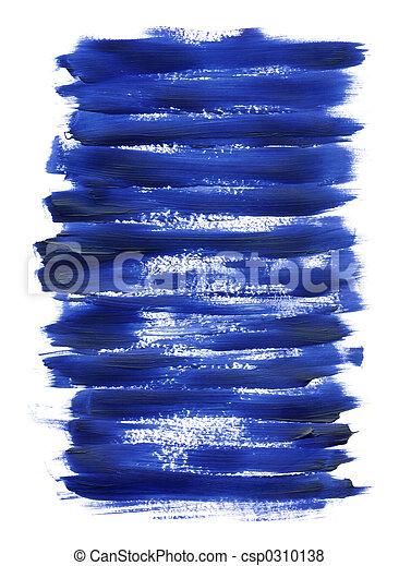 blauwe , acryl, textuur - csp0310138