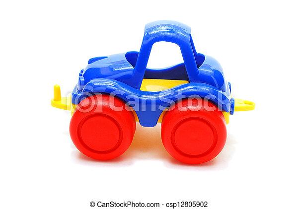blauwe auto, speelbal - csp12805902