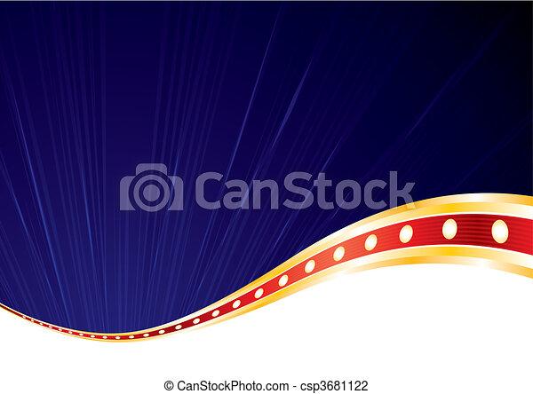blauwe , behang, luxe - csp3681122