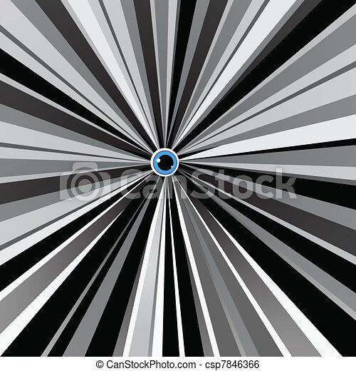 blauwe , black , witte , oog, achtergrond - csp7846366