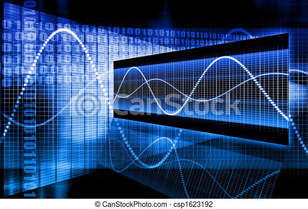 blauwe , collectief, data, diagram - csp1623192