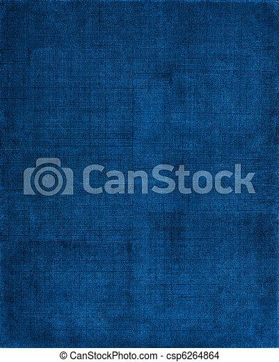 blauwe , doek, achtergrond - csp6264864