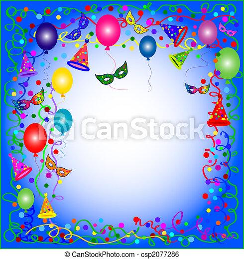 blauwe , feestje, carnaval, achtergrond - csp2077286