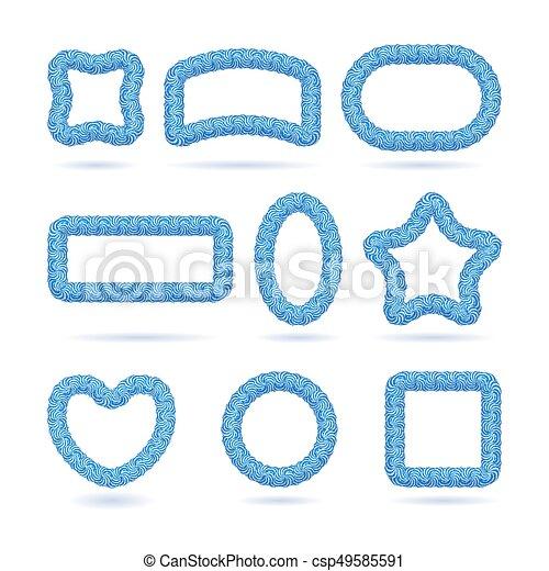 blauwe , frame, set, lollipop - csp49585591