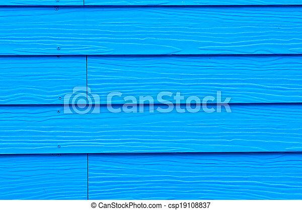 blauwe , geverfde, hout, achtergrond, nieuw - csp19108837
