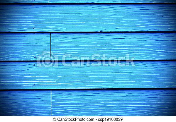 blauwe , geverfde, hout, achtergrond, nieuw - csp19108839