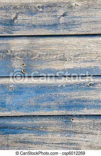 blauwe , geverfde, oud, grondslagen - csp6012269