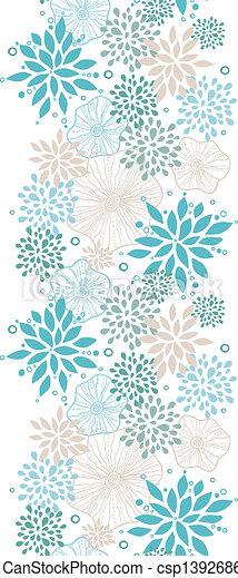 blauwe , grijs, verticaal, model, seamless, planten, achtergrond - csp13926860