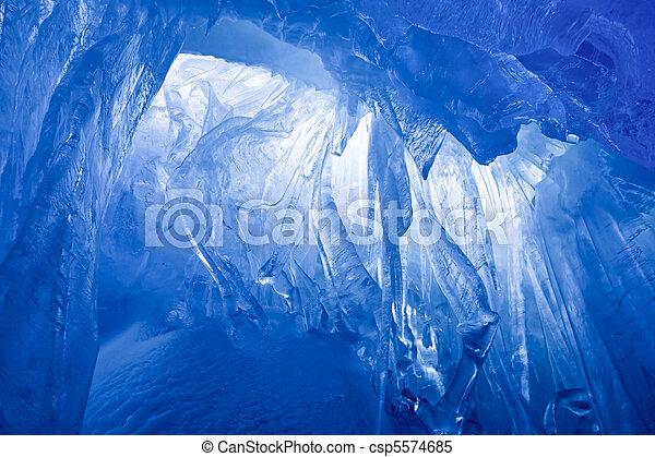 blauwe , grot, ijs - csp5574685