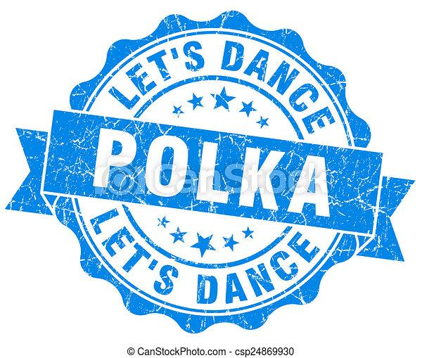 blauwe , grunge, polka, vrijstaand, zeehondje, witte  - csp24869930